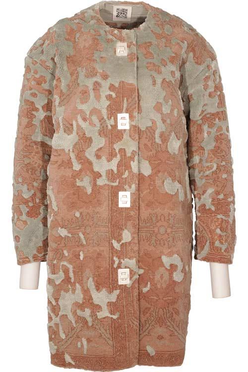 carpet jacket. carpet coat. what; who; how jacket